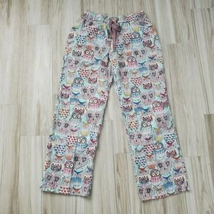 E By Eloise Anthropologie Small Owl Pajama Pants